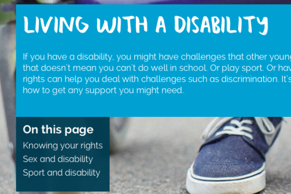 Living with a disability home page